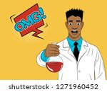 shocked young scientist holding ...   Shutterstock .eps vector #1271960452