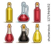 vector set of isolated bottles  ... | Shutterstock .eps vector #1271964652