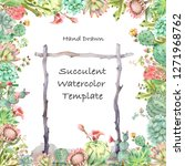 watercolor hand drawn greeting... | Shutterstock . vector #1271968762