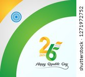 happy republic day with india... | Shutterstock .eps vector #1271972752