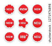 new tag symbol icon  new... | Shutterstock .eps vector #1271976898