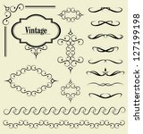 decorative elements | Shutterstock .eps vector #127199198