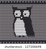 beautiful knitted owl sweater... | Shutterstock .eps vector #127200698