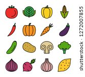 vegetable icons pack. isolated...   Shutterstock .eps vector #1272007855