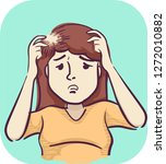 illustration of a girl with a... | Shutterstock .eps vector #1272010882