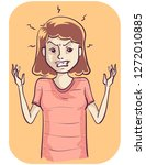 illustration of an irritated... | Shutterstock .eps vector #1272010885