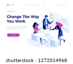 people work in a team and... | Shutterstock .eps vector #1272014968