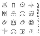 travel and tourism icons pack.... | Shutterstock .eps vector #1272015148