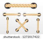 nautical rope. round and square ... | Shutterstock .eps vector #1272017422