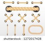 nautical rope. round and square ... | Shutterstock .eps vector #1272017428