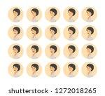 vector young adult woman...   Shutterstock .eps vector #1272018265