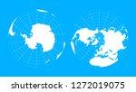 arctic and antarctic globe... | Shutterstock .eps vector #1272019075