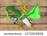 summer women's clothing and ... | Shutterstock . vector #1272025828