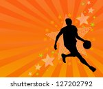 vector basketball player in silhouette
