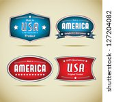 made in usa collection | Shutterstock .eps vector #127204082