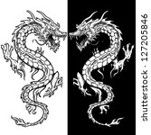 Dragon Tattoo In Black And...