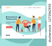 landing page. website template. ... | Shutterstock .eps vector #1272062935