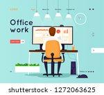 website template. business... | Shutterstock .eps vector #1272063625