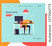 landing page. a lot of work ... | Shutterstock .eps vector #1272063775