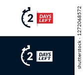 days left   vector | Shutterstock .eps vector #1272068572