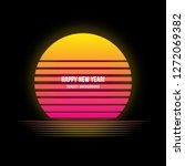 sunset background vector image. | Shutterstock .eps vector #1272069382