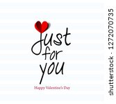 sweet message for valentine's... | Shutterstock .eps vector #1272070735