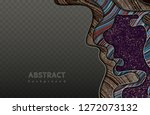 abstract waves background.... | Shutterstock .eps vector #1272073132