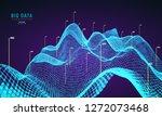 abstract 3d big data... | Shutterstock .eps vector #1272073468