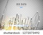 abstract 3d big data... | Shutterstock .eps vector #1272073492