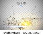 abstract 3d big data... | Shutterstock .eps vector #1272073852