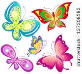 Stock vector butterflies design 127208582