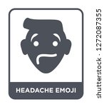headache emoji icon vector on... | Shutterstock .eps vector #1272087355