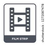 film strip icon vector on white ... | Shutterstock .eps vector #1272087478