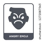angry emoji icon vector on...   Shutterstock .eps vector #1272087565