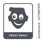 crazy emoji icon vector on...   Shutterstock .eps vector #1272087595