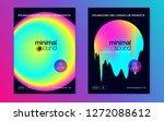 music poster set. electronic... | Shutterstock .eps vector #1272088612