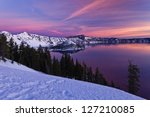 Winter Scene At Crater Lake...