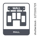 mall icon vector on white... | Shutterstock .eps vector #1272101725
