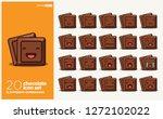 cube of chocolate bar vector... | Shutterstock .eps vector #1272102022