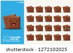 cube of chocolate bar vector... | Shutterstock .eps vector #1272102025