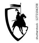 medieval knight riding horse... | Shutterstock .eps vector #1272106258