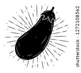 eggplant. hand drawn vector... | Shutterstock .eps vector #1272108562