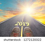 road to new 2019 year  goals... | Shutterstock . vector #1272120322