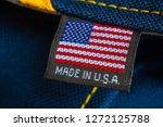 made in usa label textile | Shutterstock . vector #1272125788