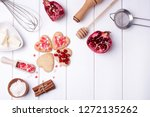 cookies in the shape of a heart ... | Shutterstock . vector #1272135262