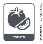 tomato icon vector on white... | Shutterstock .eps vector #1272145738
