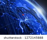 cyprus from space on model of... | Shutterstock . vector #1272145888