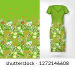 cute pattern in small simple... | Shutterstock . vector #1272146608