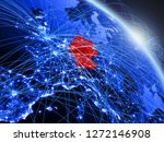 germany from space on model of...   Shutterstock . vector #1272146908