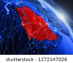 saudi arabia from space on...   Shutterstock . vector #1272147028